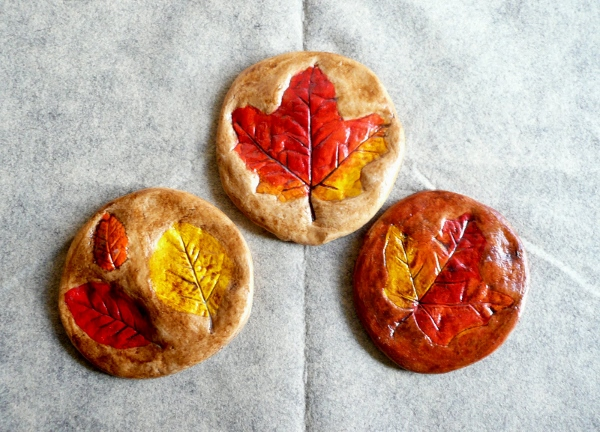 Salt dough leaf prints - Canada Day crafts for kids and adults