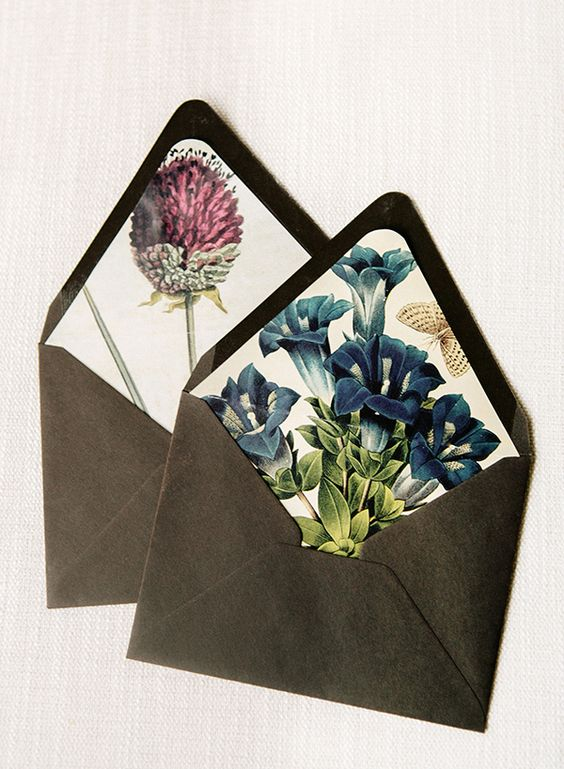 DIY Botanical Envelope Liners
